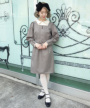 model:150cm (beige×brown着用)