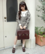 model:153cm (beige×brown着用)