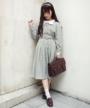 model:153cm (brown×white着用)
